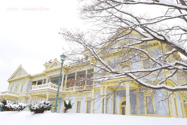 函館・雪の公会堂