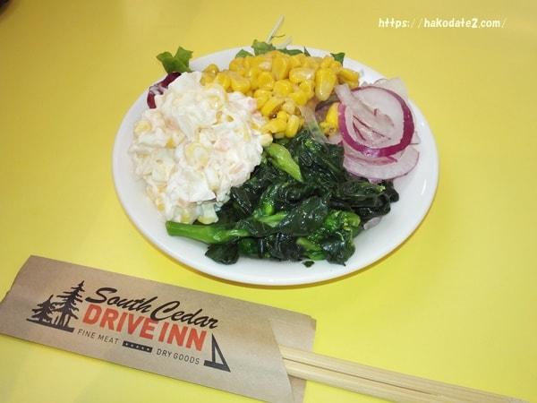 函館ジョリジェリのサラダ