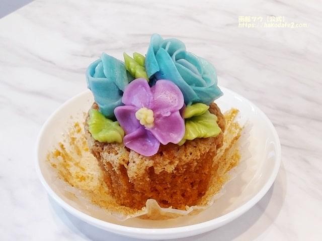 手作りのバタークリームでつくったカップケーキ