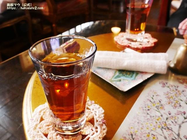 旧茶屋亭のウェルカムドリンク