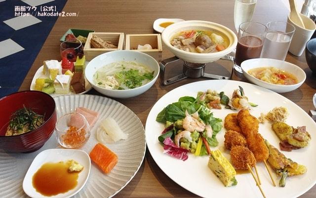 朝食が美味しいホテル函館1位のセンチュリーマリーナ函館の朝食