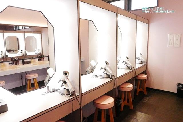 センチュリーマリーナ函館の女性用パウダールーム
