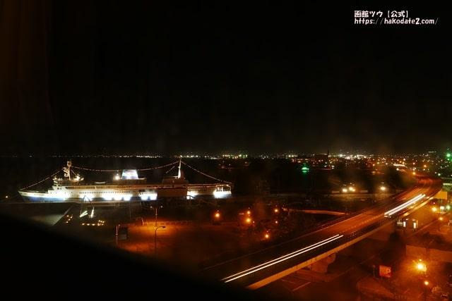 センチュリーマリーナ函館の部屋から見える夜景