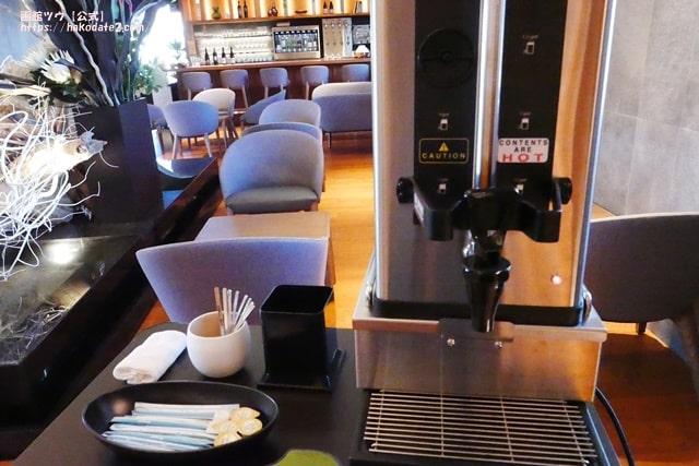 ホテルセンチュリーマリーナ函館のウエルカム・ホットコーヒー