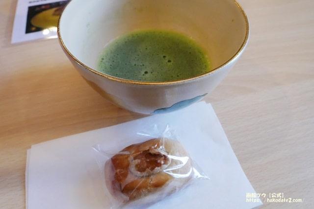 函館バル街ふるまいお抹茶と和菓子